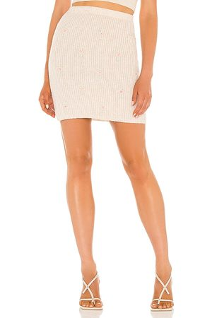 ASTR the Label Tea Party Skirt in - Neutral. Size L (also in M, S, XS).