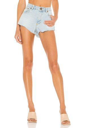 ONE TEASPOON The One High Waist Short in - Blue. Size 22 (also in 23, 24, 25, 26, 27, 28, 29, 30).