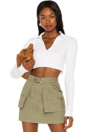Cotton Citizen X REVOLVE Ibiza Cropped Polo Shirt in - . Size L (also in XS, S, M).
