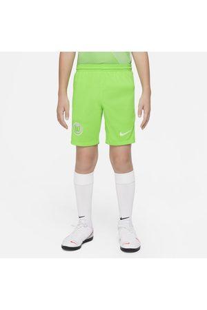 Nike Calções - Calções de futebol do equipamento principal Stadium VfL Wolfsburg 2021/22 Júnior
