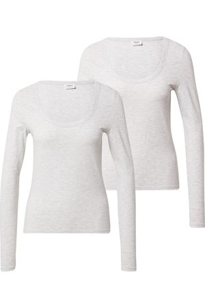 Cotton On Camisa 'EVERYDAY SCOOPED LONG SLEEVE TOP - 2 PACK