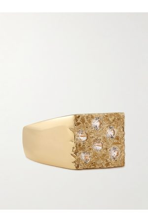 Bleue Burnham The Mini Rose Garden Sterling Silver and Sapphire Signet Ring