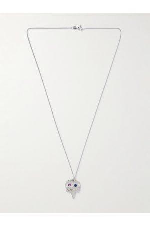 Bleue Burnham Homem Colares - The Bouquet Sterling and Sapphire Pendant Necklace