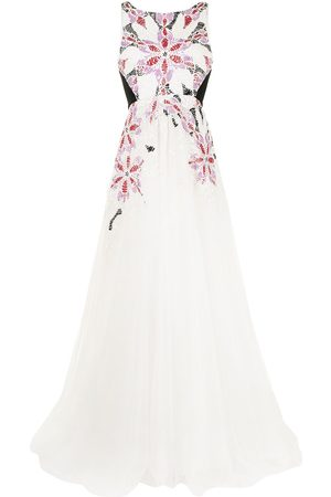 Saiid Kobeisy Sleeveless embroidered gown