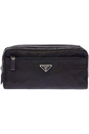 Prada Homem Trolleys & Malas de Viagem - Re-Nylon and leather travel pouch
