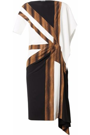Burberry Flag-print silk asymmetric dress