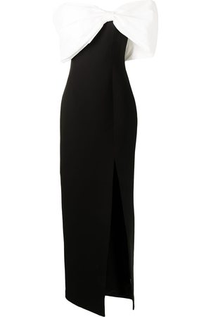 Rachel Gilbert Two-tone bow-detailed gown