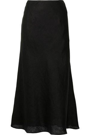 Rachel Gilbert A-line linen midi skirt