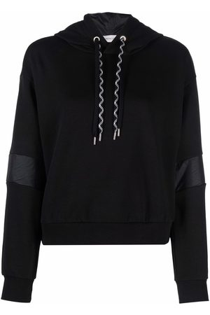 Moncler Contrast-stripe relaxed-fit hoodie