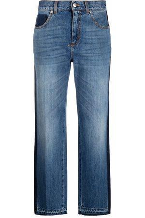 Alexander McQueen High-rise straight-leg jeans