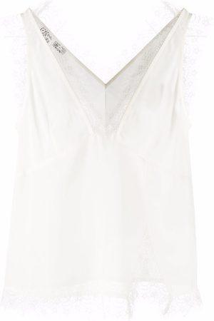 Pinko Lace-trim sleeveless top