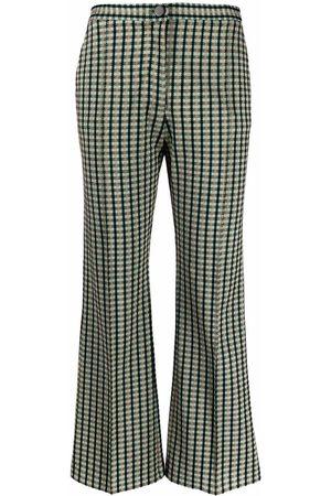 Pinko Check pattern tailored trousers