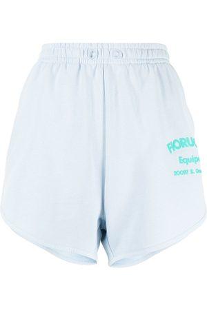 Fiorucci Senhora Calções - Equipe logo-print shorts