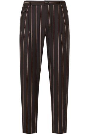 Dolce & Gabbana Homem Calças Formal - Pinstriped tailored trousers