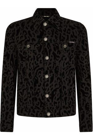 Dolce & Gabbana Animal-print denim jacket