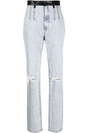 Alexander Wang Pebble bleach-wash high-waist jeans