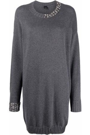 Pinko Senhora Camisolas - Bead-embellished long sweater