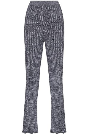 Paco Rabanne Knitted flared trousers