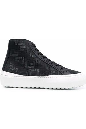 Fendi Monogram-pattern lace-up sneakers
