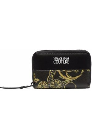 Versace Jeans Couture Barocco-print all-around zip wallet