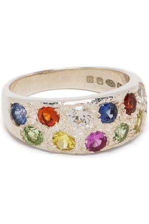Bleue Burnham Mini Riviera sapphire-embellished ring