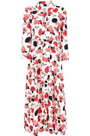 Pinko Rose-print midi shirtdress