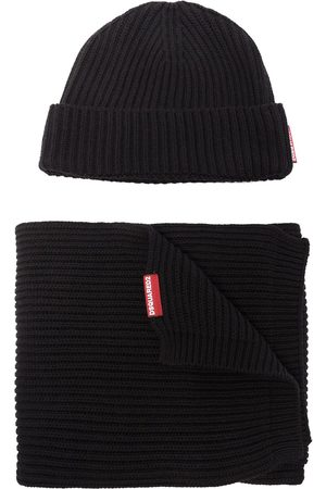 Dsquared2 Homem Chapéus - Knitted beanie hat and scarf set