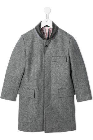 Thom Browne Kids Chesterfield Melton wool coat