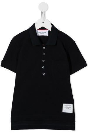 Thom Browne Kids Classic short sleeve polo shirt