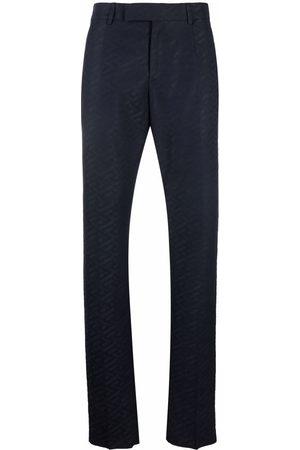 Versace Homem Calças Formal - Monogram pattern tailored trousers