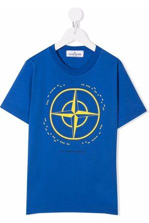 Stone Island Junior Graphic-print cotton T-Shirt