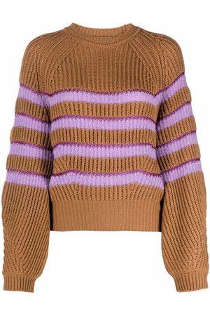Pinko Senhora Camisolas - Ribbed striped jumper