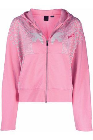 Pinko Logo-print zipped hoodie
