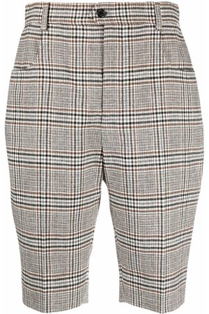 Saint Laurent Checked tailored shorts