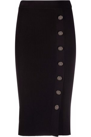 Pinko Senhora Saias Midi - Knitted buttoned midi skirt
