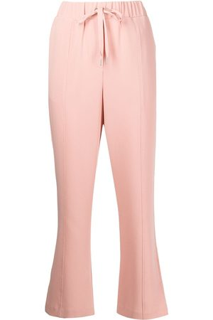 Cinq A Sept Drawstring waist cropped trousers
