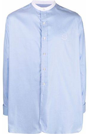 Maison Margiela Homem Manga comprida - Contrasting-collar long-sleeve shirt