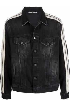 Palm Angels Side striped denim jacket