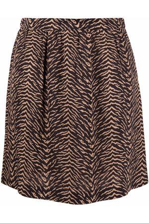Pinko Animal-print A-line skirt