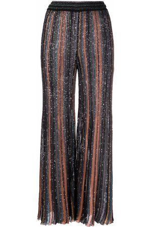 Missoni Sequined striped trousers