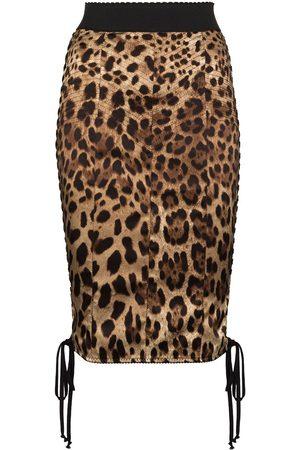 Dolce & Gabbana DOLCE HW SIDE DRWSTRNG LEO PRNT PENCIL K