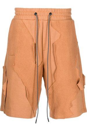 Mostly Heard Rarely Seen Homem Bermudas - Patchwork drawstring shorts