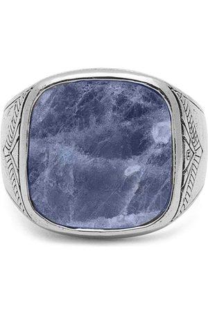 Nialaya Jewelry Homem Anéis - Dumortierite signet ring