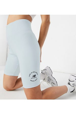 New Balance Life in balance legging shorts in pale blue - exclusive to ASOS