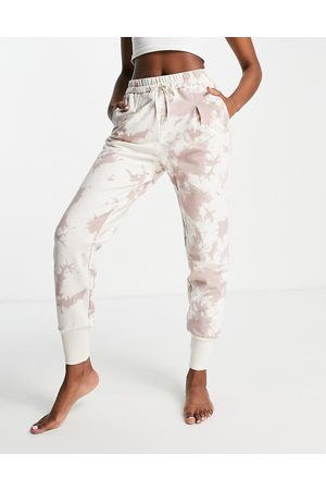 Varley Keswick tie dye joggers in taupe-Neutral