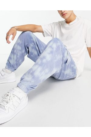 ASOS DESIGN Co-ord tapered towelling cargo joggers in wash-Blue
