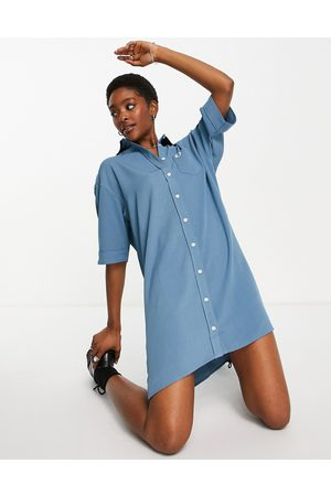 Fred Perry Oversized shirt dress in blue