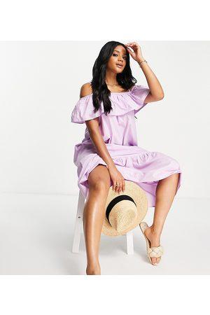 Accessorize Exclusive bardot maxi dress in lilac-Purple