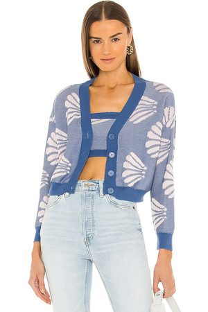 Callahan Meg Cardigan Set in - Blue. Size L (also in M, S, XS).