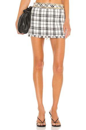 NBD Franca Mini Skirt in - White. Size L (also in M, S, XL, XS, XXS).